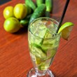 Cucumber lemonade — Stock Photo