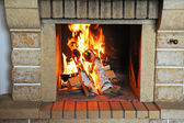 Fireplace — Stockfoto