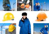 Set di lavoratori — Foto Stock