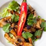 Salad from roasted eggplants — Stock Photo #14100076