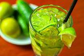 黄瓜柠檬水 — 图库照片