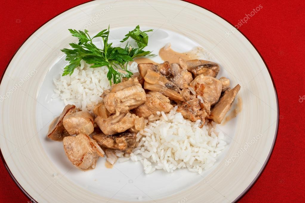 Rice with meat and greens - tasty dish — Stock Photo #14808503