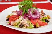 Tavuk eti fileto salata — Stok fotoğraf