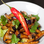Salad from roasted eggplants — Stock Photo #15587297