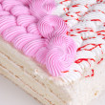 Tasty nuts cake — Stock Photo
