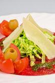 肉のカルパッチョ — ストック写真