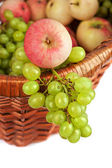 Apples and grapes — Stockfoto