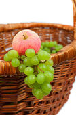 Apples and grapes — Stock Photo