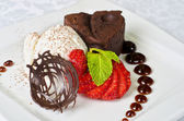Chocolate flan — Stock Photo