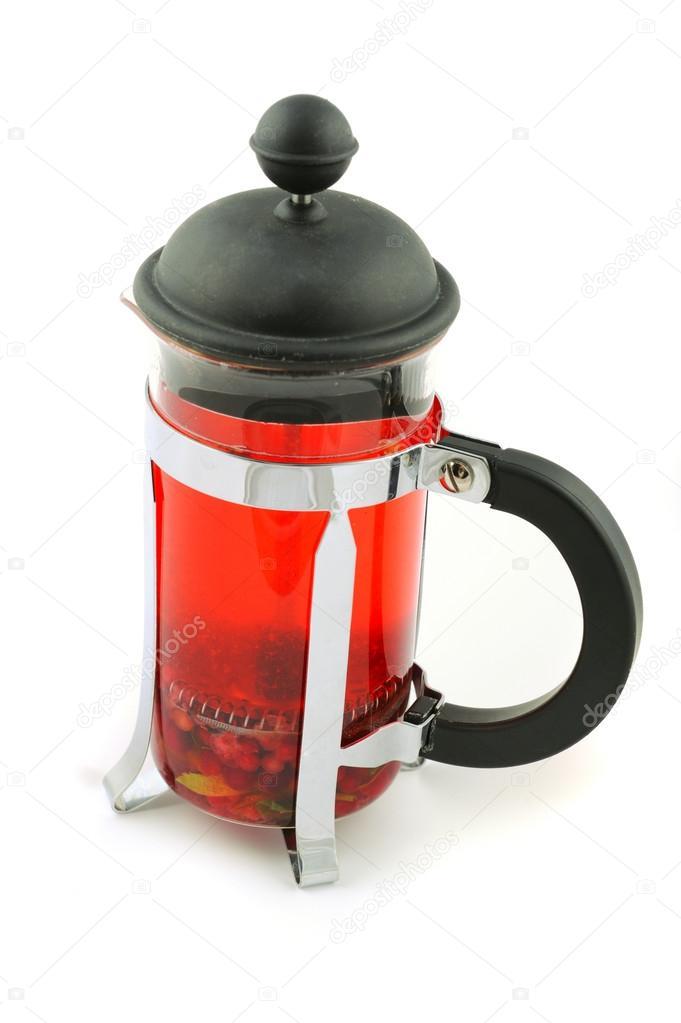 Чай во френчпрессе