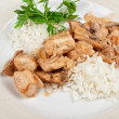 Rice with meat — Stock Photo #19811453