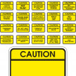 Yellow vector caution signs — Stock Vector #2101399