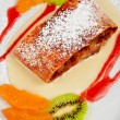 Stock Photo: Apple strudel