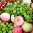 Apples and grapes — Foto de Stock
