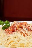Pasta con mariscos — Foto de Stock