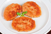 Carrot cutlets with apples — Stock Photo