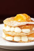 Millefeuille with tangerine — Stock Photo