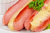 Peynirli sosis — Stok fotoğraf
