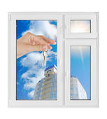 Plastic window — Stock Photo