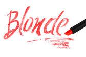 Blonde — Stockfoto