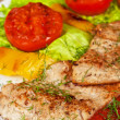 Tasty fish pike perch fillet — Stock Photo