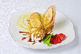 Tasty pancake dessert — Stock Photo