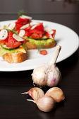 Toast met groenten — Stockfoto