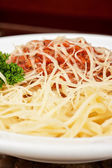 Pasta with meat — Stock Photo