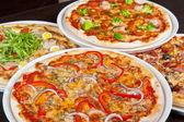 Zestaw pizzy — Zdjęcie stockowe