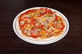 Mięso pizzy — Zdjęcie stockowe