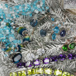 Foto de Stock  : Jewelry at fir tree