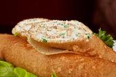 Naleśnik z serem feta — Zdjęcie stockowe