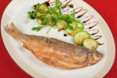 Fried peled fish — Stockfoto