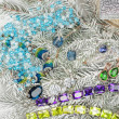 Jewelry at fir tree — Stockfoto