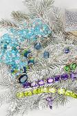 Jewelry at fir tree — Stock Photo