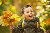 Niño otoño — Foto de Stock