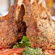 Stock Photo: Roasted lamb rib