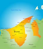 Brunei — Vettoriale Stock