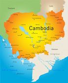 Cambodia — Stock Vector