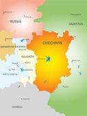 Tschetschenische republik land — Stockvektor