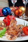 Kött med grönsaker — Stockfoto
