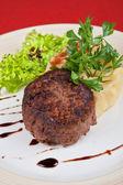 Bife de carne frito — Fotografia Stock