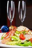 Tasty shrimp salad — Stock Photo