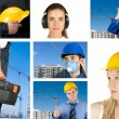 Stock Photo: Workers set