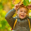 Autumn baby boy — Foto Stock