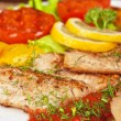 Tasty fish pike perch fillet — Stock Photo #38653001