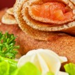 Pancakes with salmon — Stock Photo #38656315
