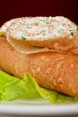 Pancake feta cheese — Stock Photo