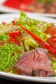 牛肉沙拉 — 图库照片