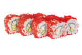 Sushi rolls with sesame avocado and shrimp — Stock Photo